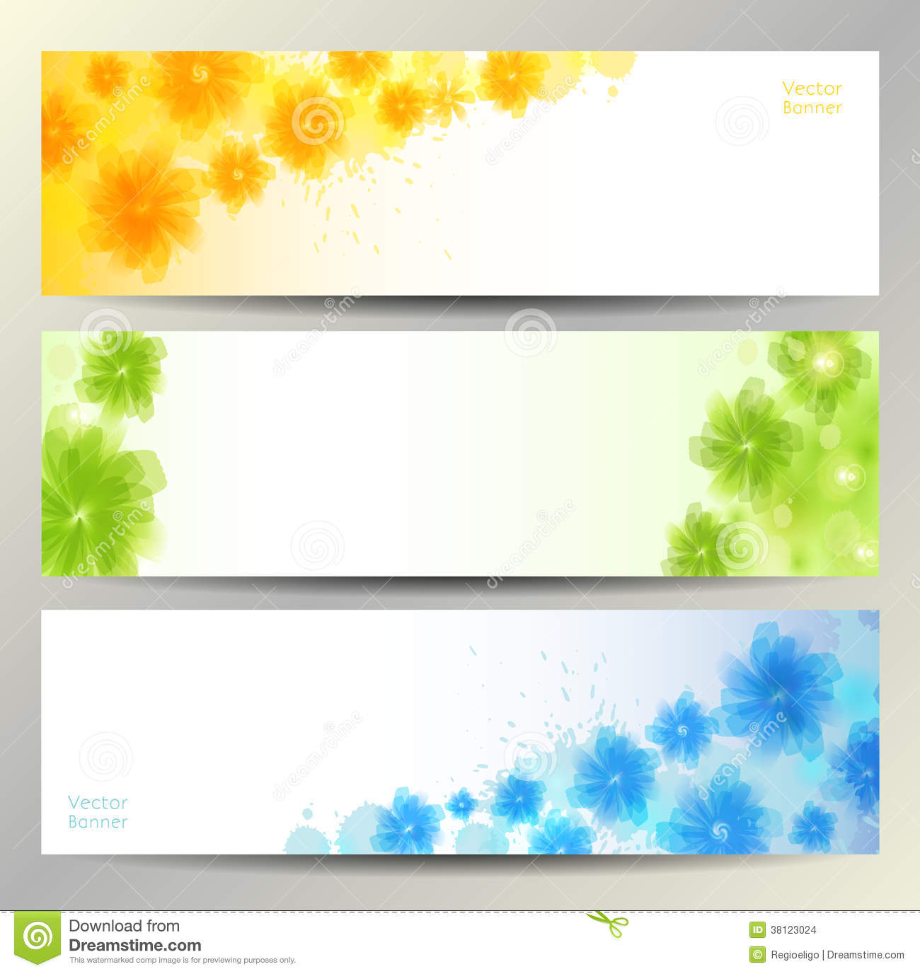 Abstract Flower Vector Background / Brochure Template / Banner. Stock ...
