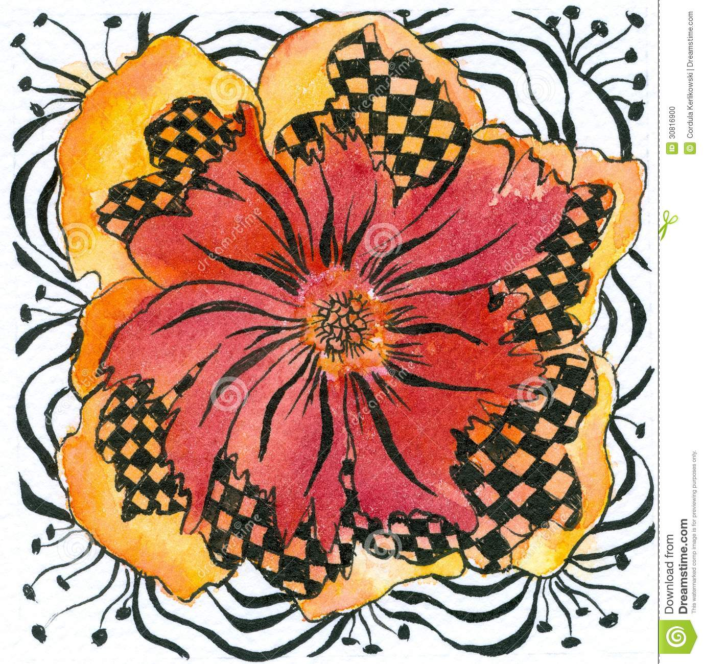 Abstract Flower Stock Illustration Illustration Of Floral