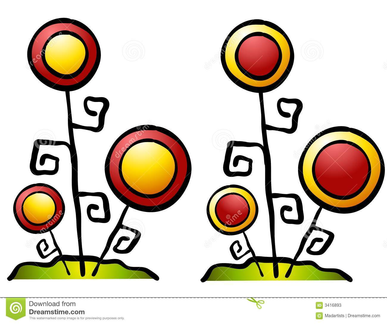 Clip Art Flowers Abstract