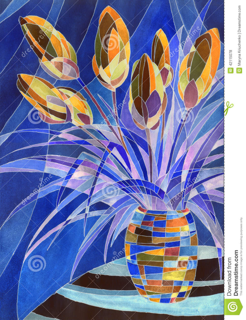 Abstract flowers in a vase stock illustration illustration of abstract flowers in a vase reviewsmspy