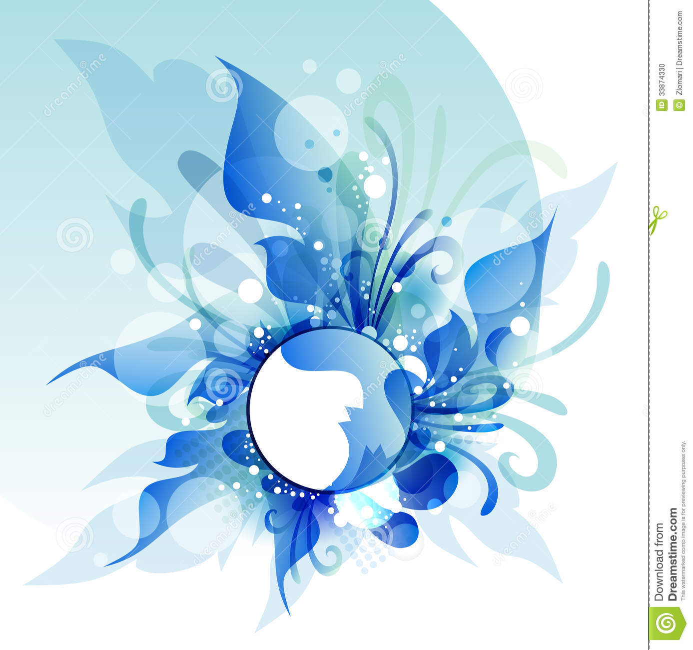 Abstract Flower Background With Decoration Elements For: Abstract Flowers, Vector Illustrationfor Design Stock