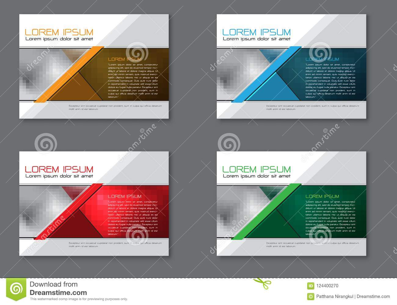 Abstract flyer brochure set collection template for business on grey design modern vector