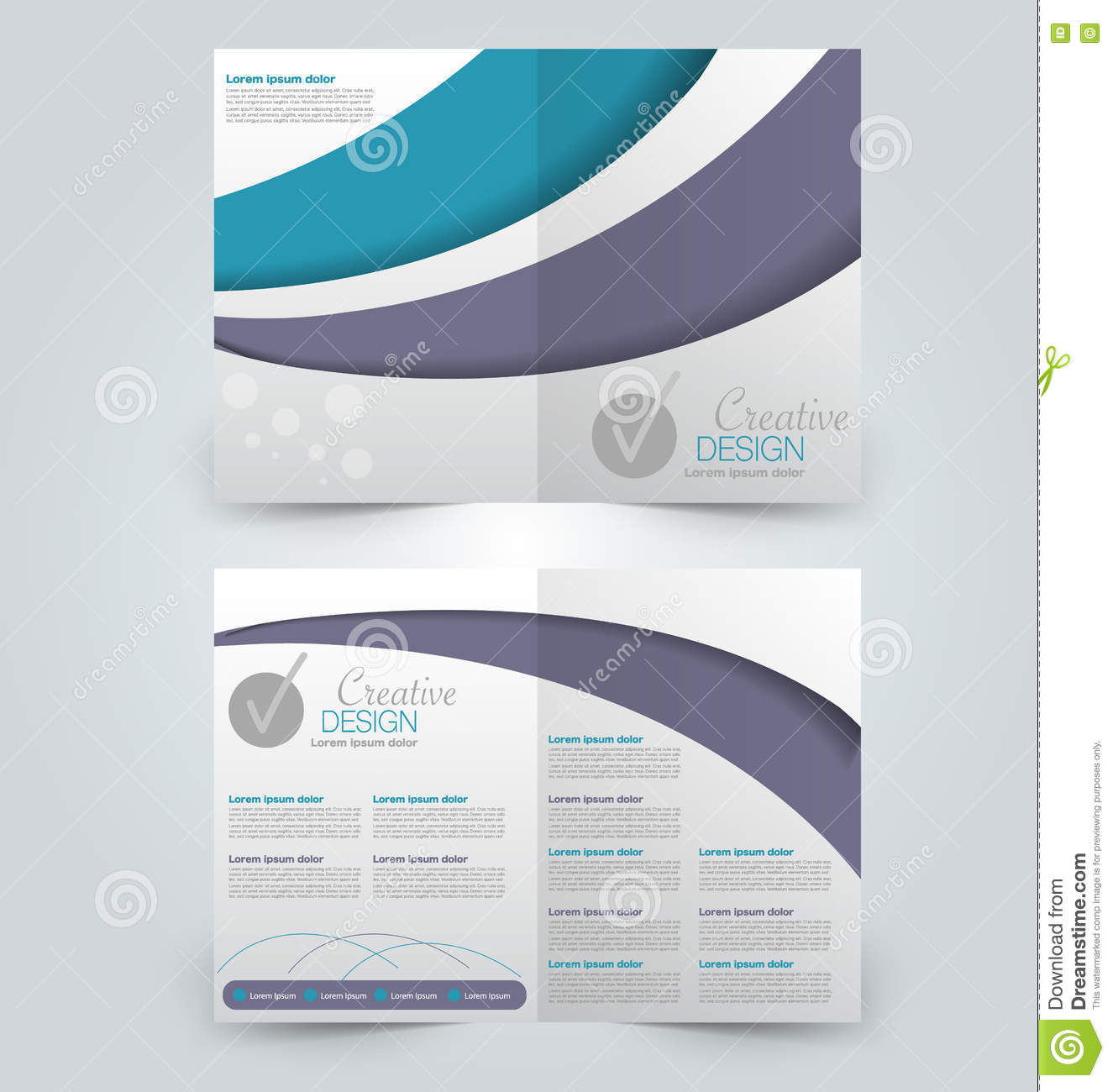 background for brochure design - abstract flyer design background bi fold brochure