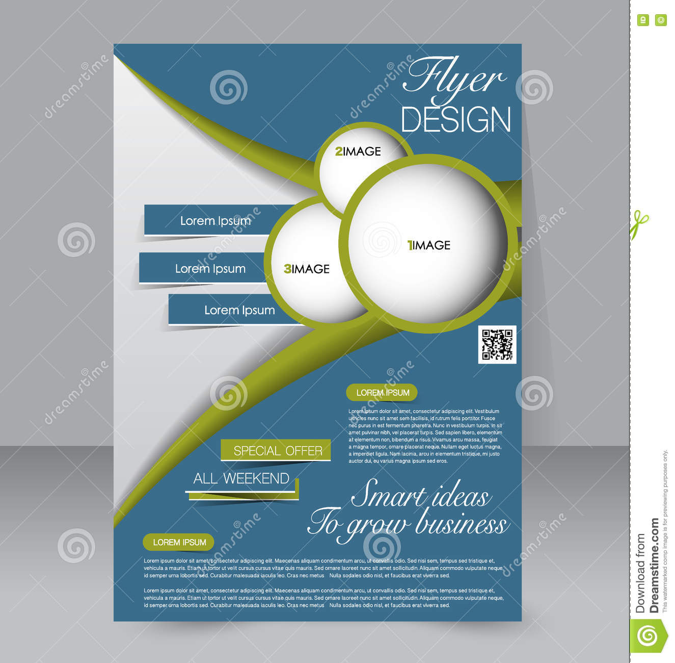 Abstract Flyer Design Background. Brochure Template. Stock ...