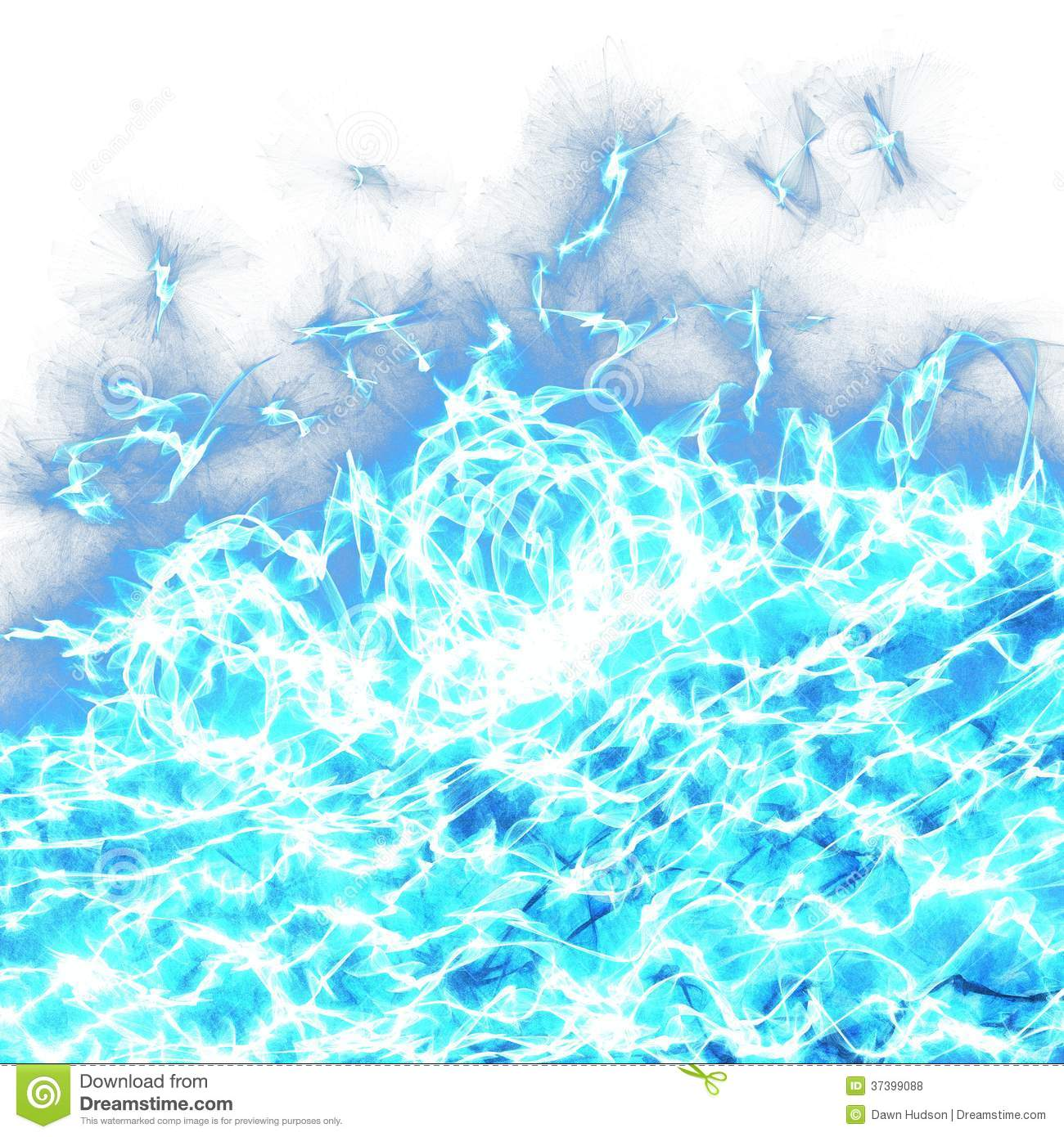 Abstract Foaming Ocean Wave Stock Photo