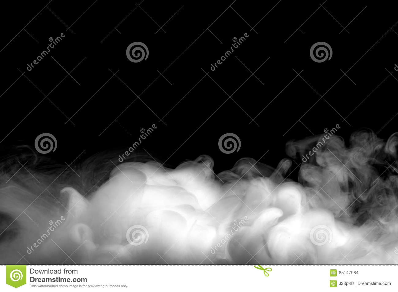 Abstract Fog Or Smoke Move On Black Background Stock Photo - Image ...