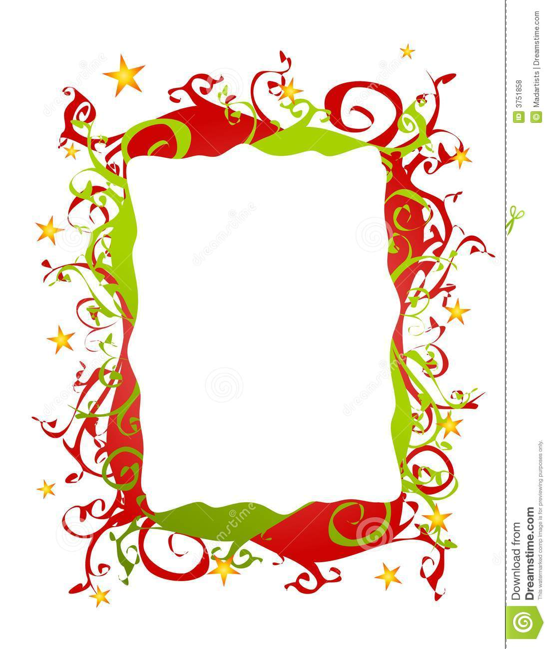 abstract folksy christmas border or frame - Christmas Borders Free