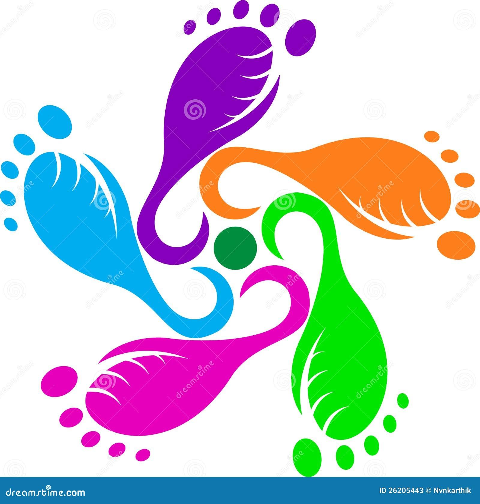 Abstract foot print