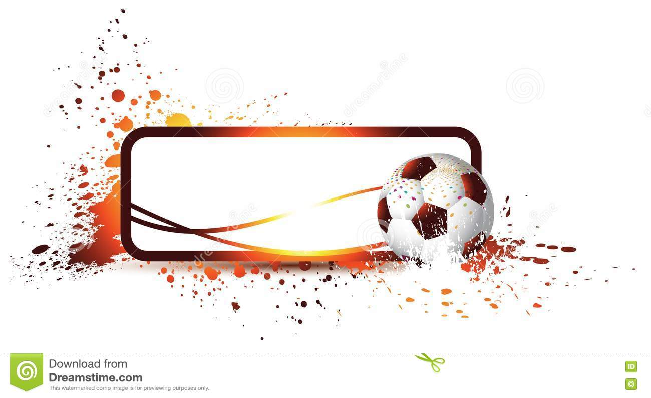 abstract football frame stock vector  image of decoration