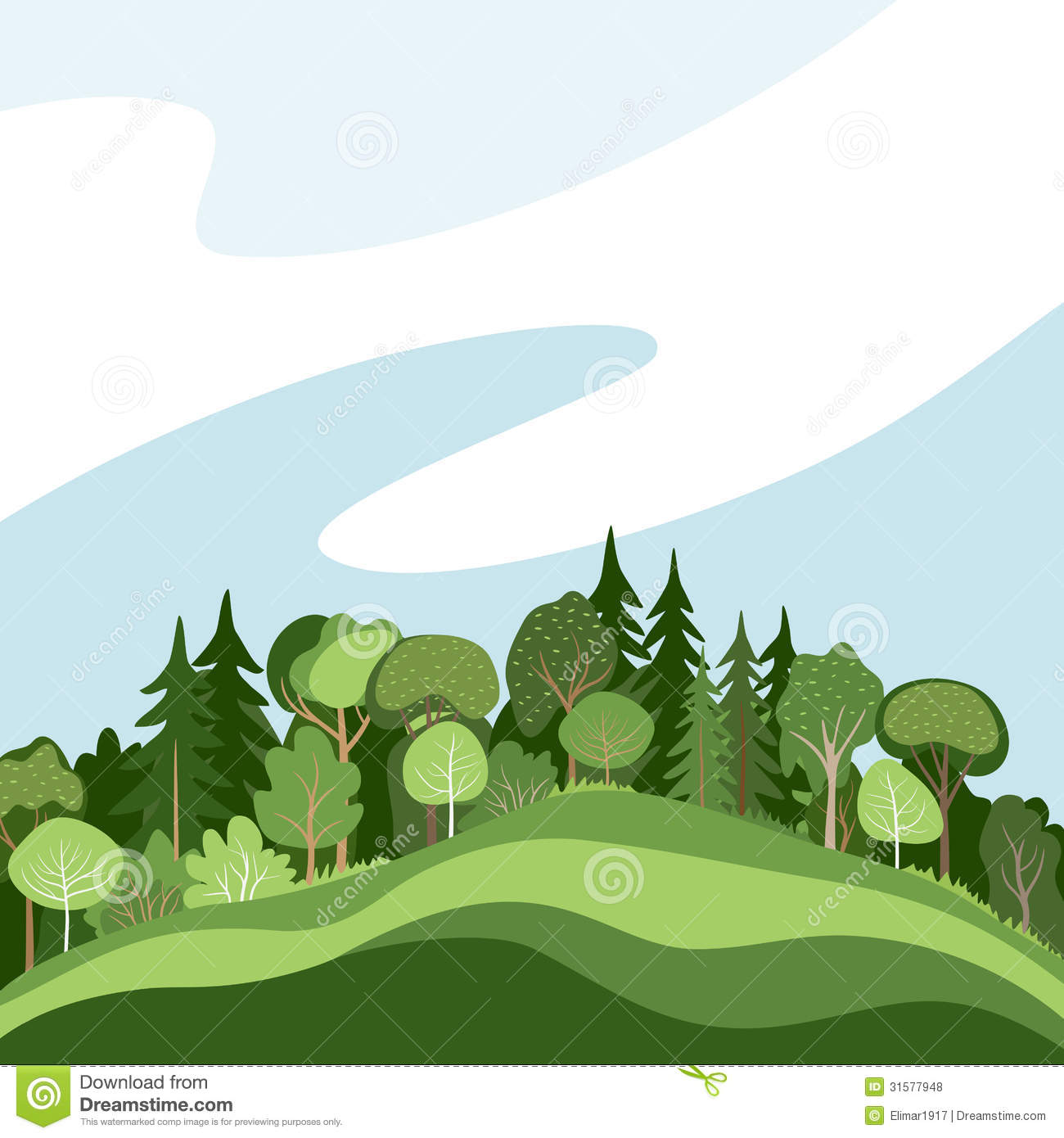 Abstract forest stock vector. Image of poster, green ...
