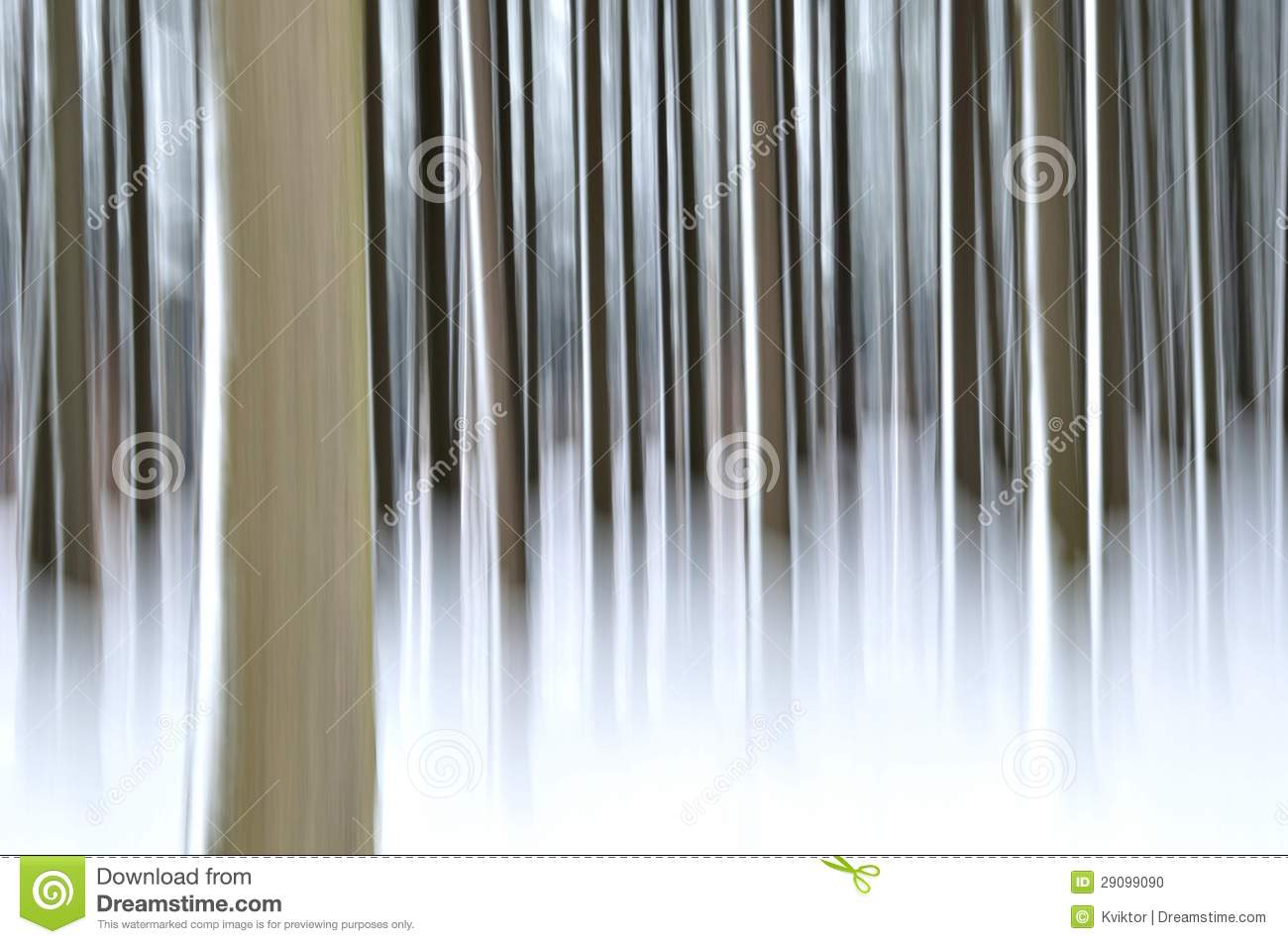 Abstract forest in winter