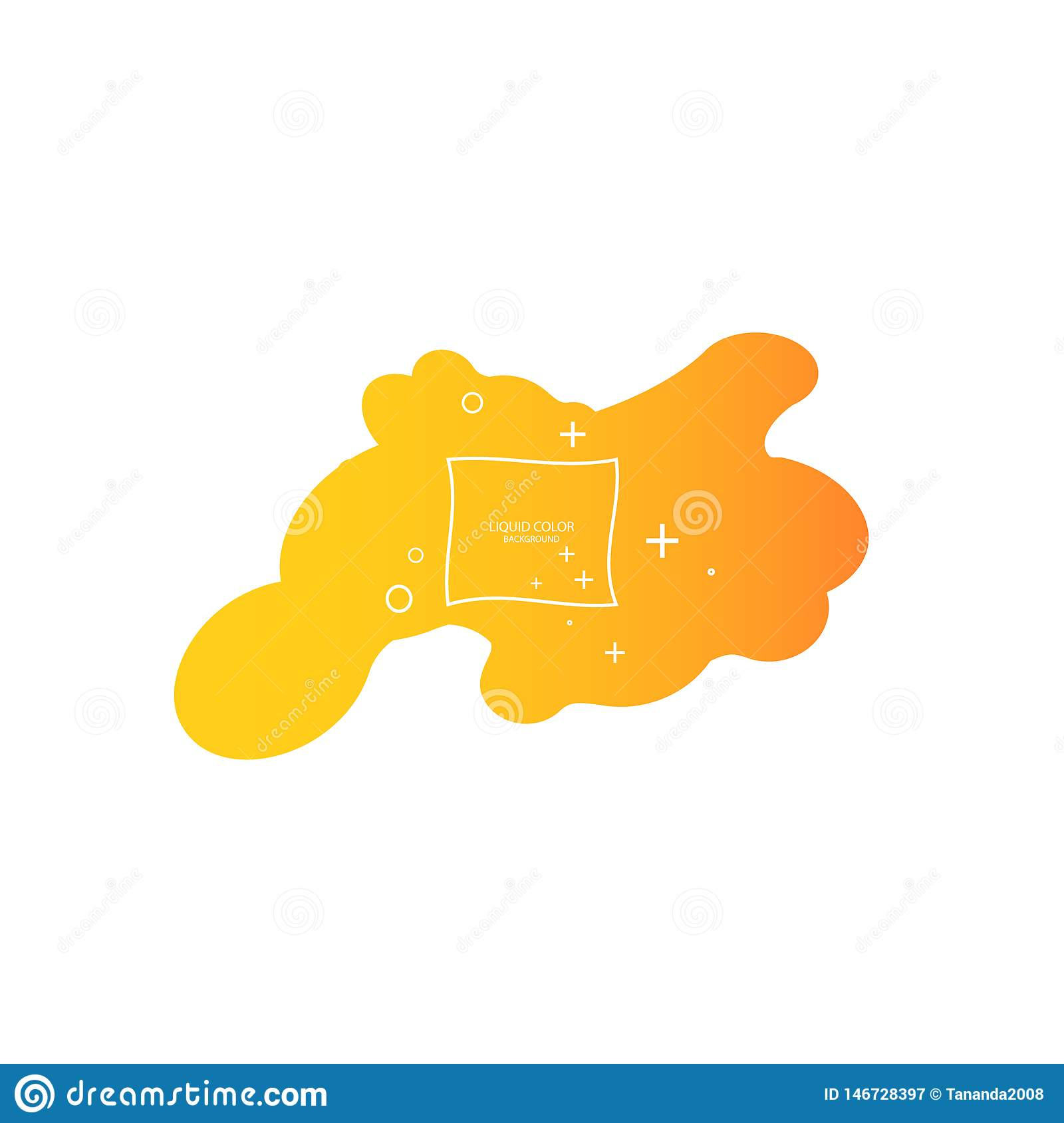 Abstract form of fluid. Liquid design. Liquid dynamic background for web sites, landing page or business presentation