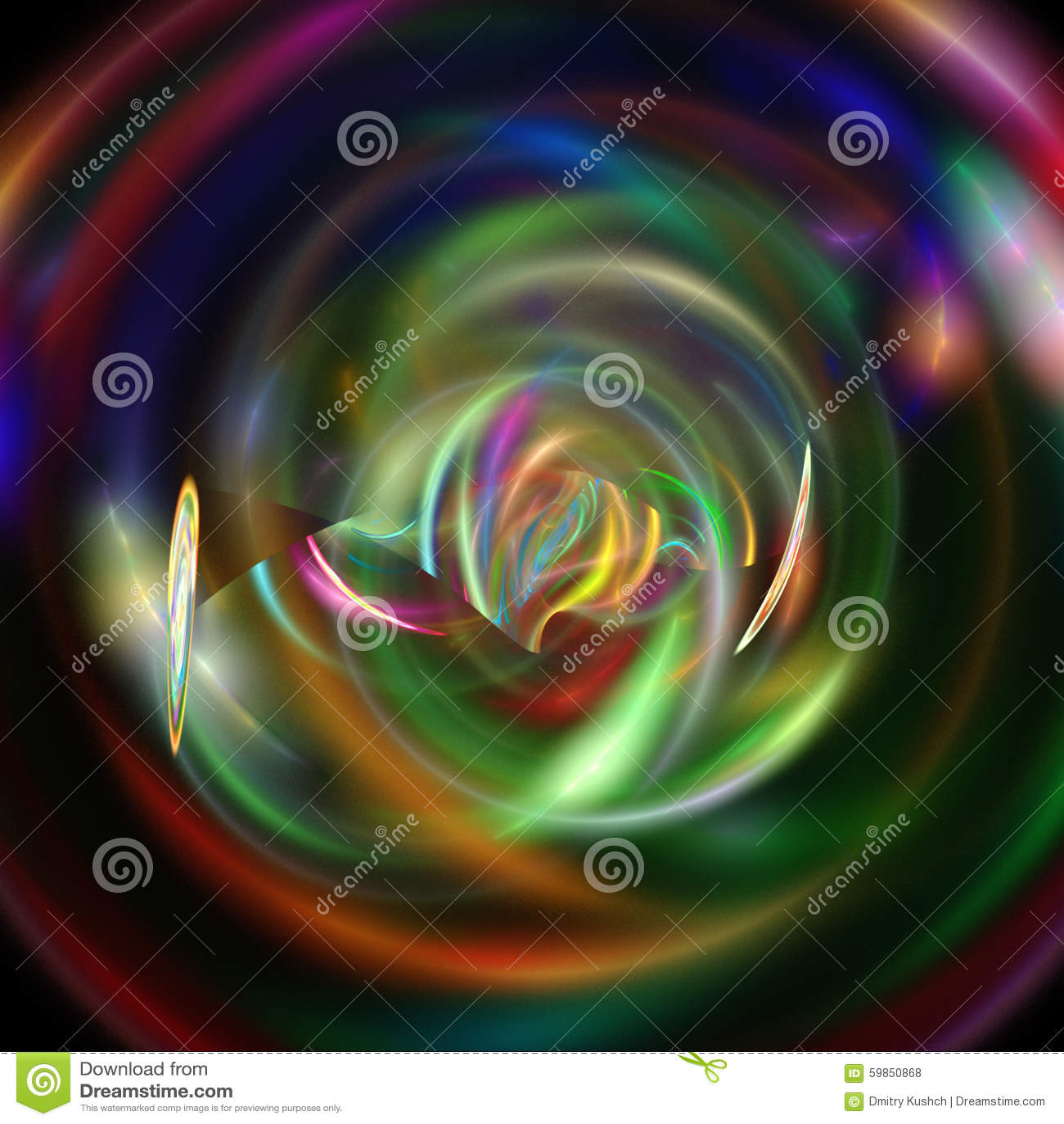 illustration fractal background clocks - photo #5