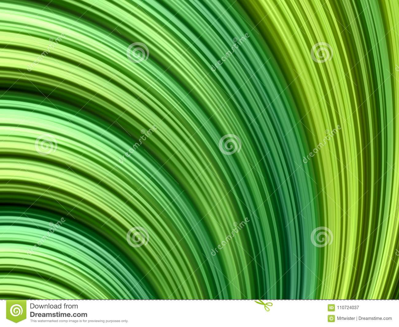 Abstract fractal background with gradient green lines