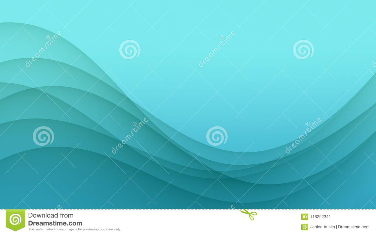 Elegant bright blue soft wavy curves abstract wallpaper background