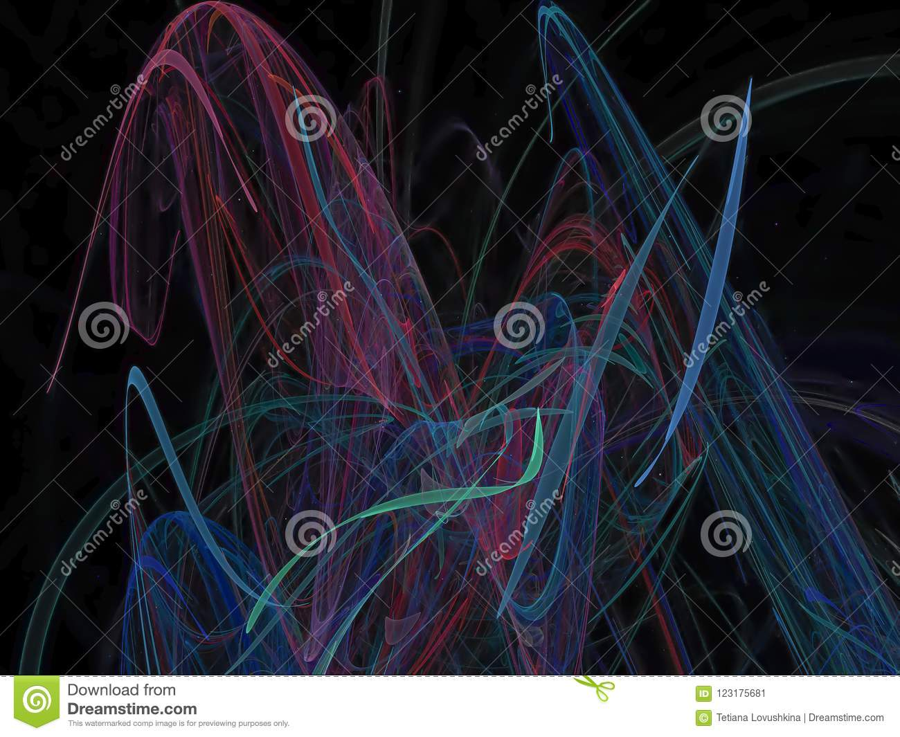 abstract vibrant digital overlay style design fractal pattern stock