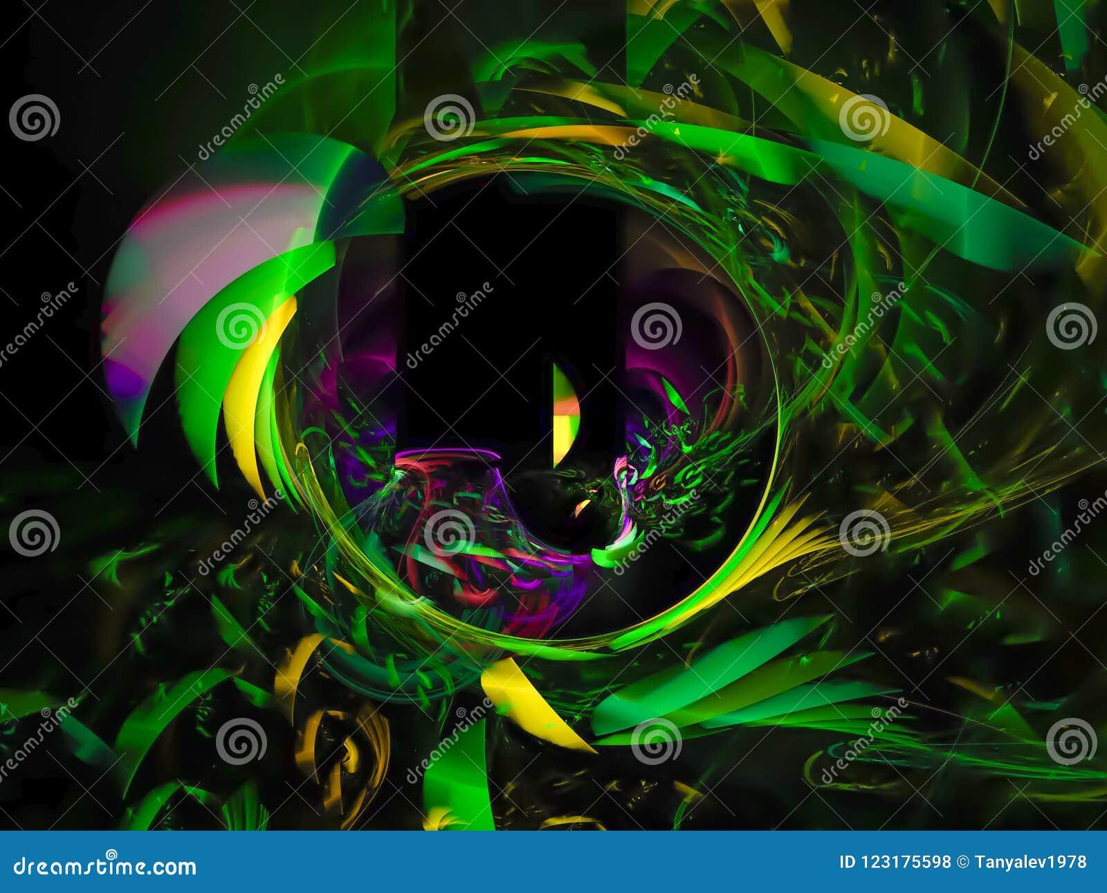 abstract vibrant digital overlay shine deep cybernetic design