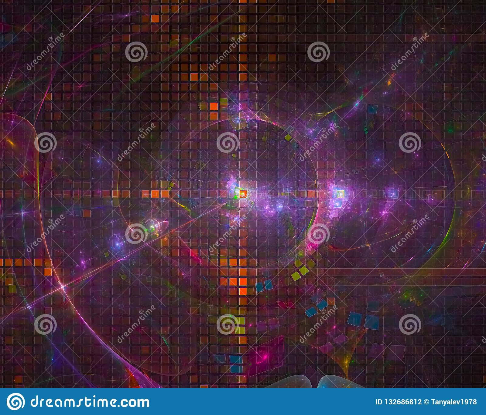 Abstract fractal digital design light future color backdrop shape beautiful power explosion