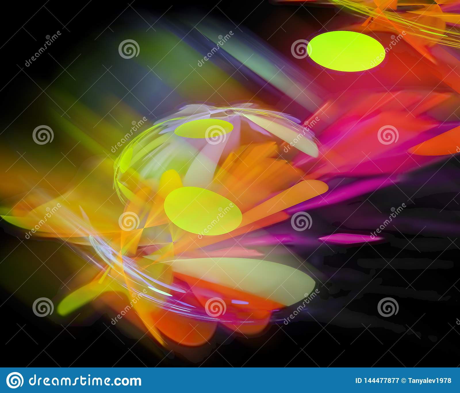 Abstract Fractal, Effect Vibrant Creativity Dynamic