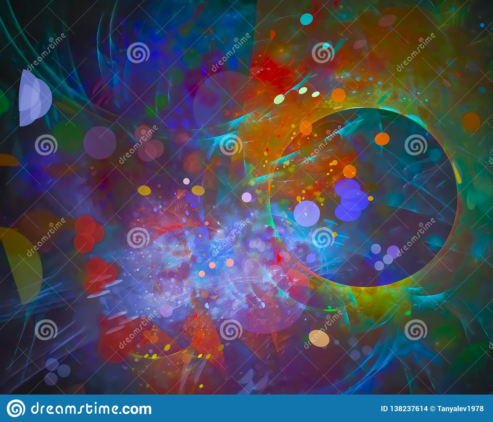 Abstract Digital Fractal Power Motion Flow Wallpaper Texture