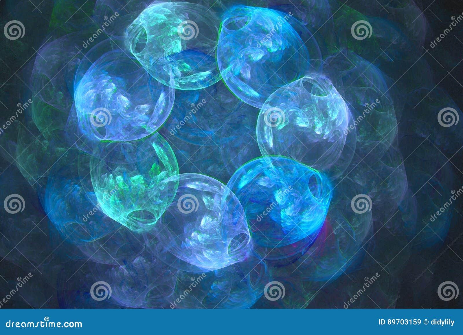 Abstract fractal geïllustreerd achtergrond teruggegeven behang