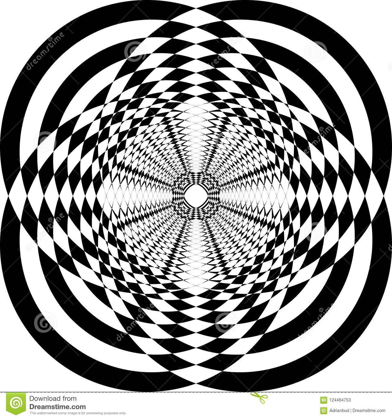 Abstract Frame Multiple Perspective Circle Bassed Game Stock Vector ...