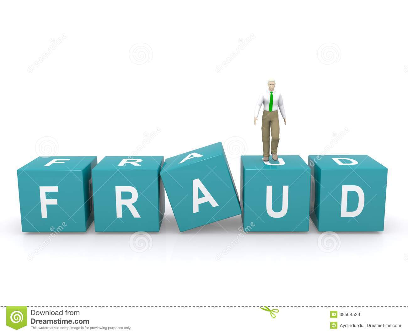 Abstract fraud sign