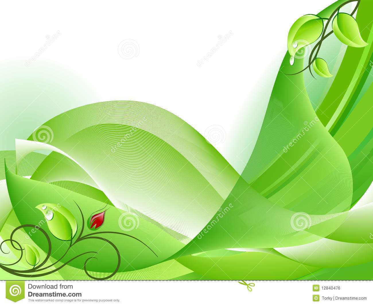 Abstract fresh green background with flower bud royalty for Green design company