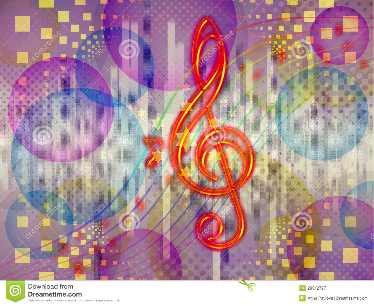 Abstract Funky Music Background Royalty Free Stock ...