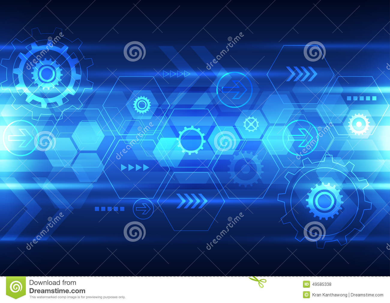Technology Abstract Background Stock Illustration: Abstract Future Technology Design Background, Vector