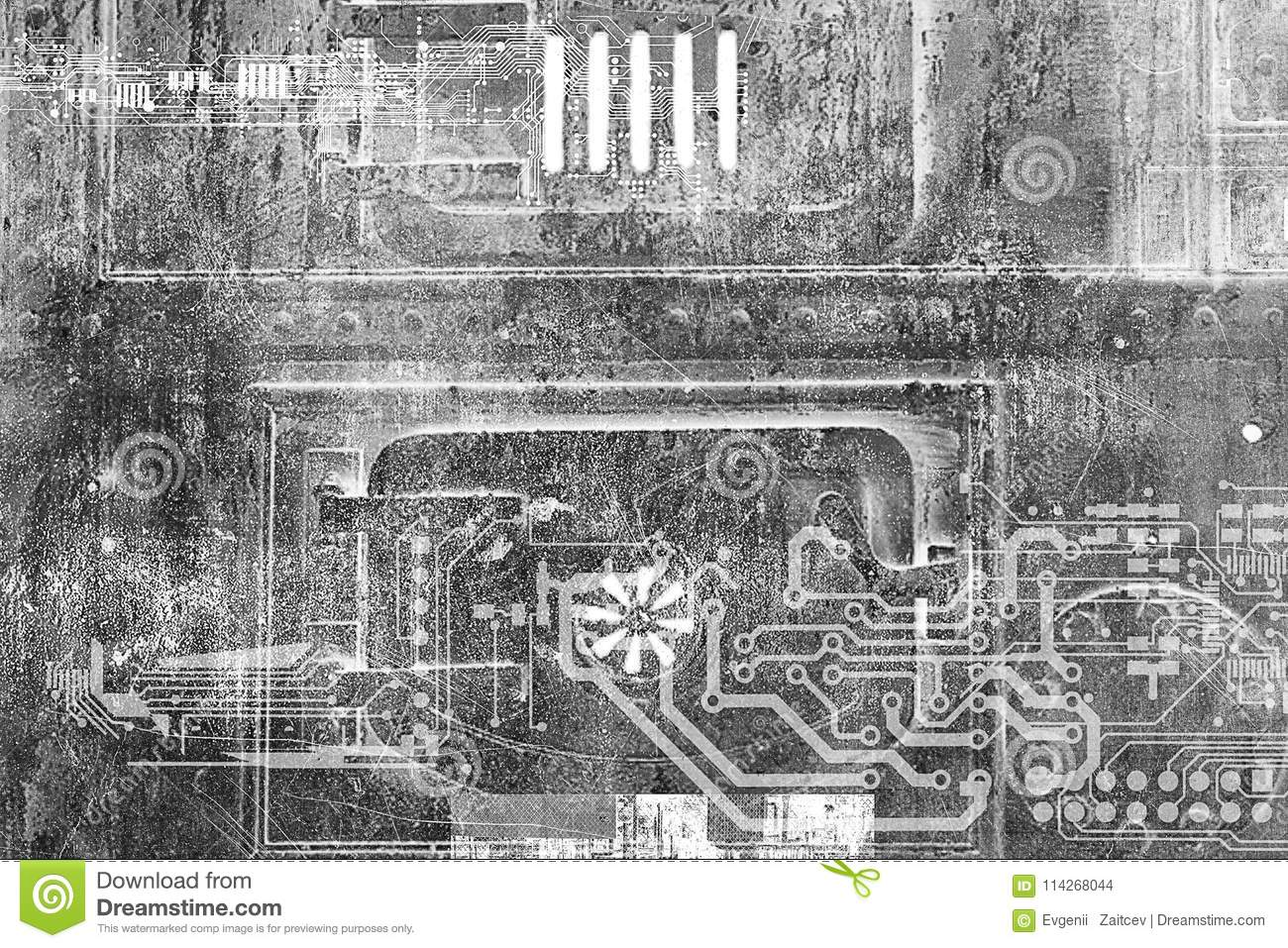 Abstract futuristic cyber grunge industrial vintage background abstract futuristic cyber grunge industrial vintage background blueprint on old grungy surface futuristic technology malvernweather Images