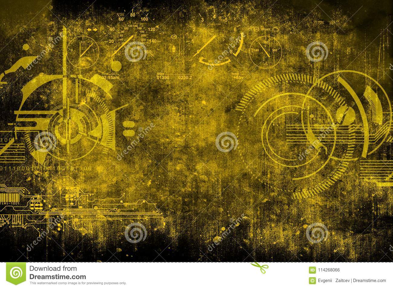 Abstract futuristic cyber grunge industrial vintage background abstract futuristic cyber grunge industrial vintage background blueprint on old grungy surface futuristic technology design concept color malvernweather Gallery