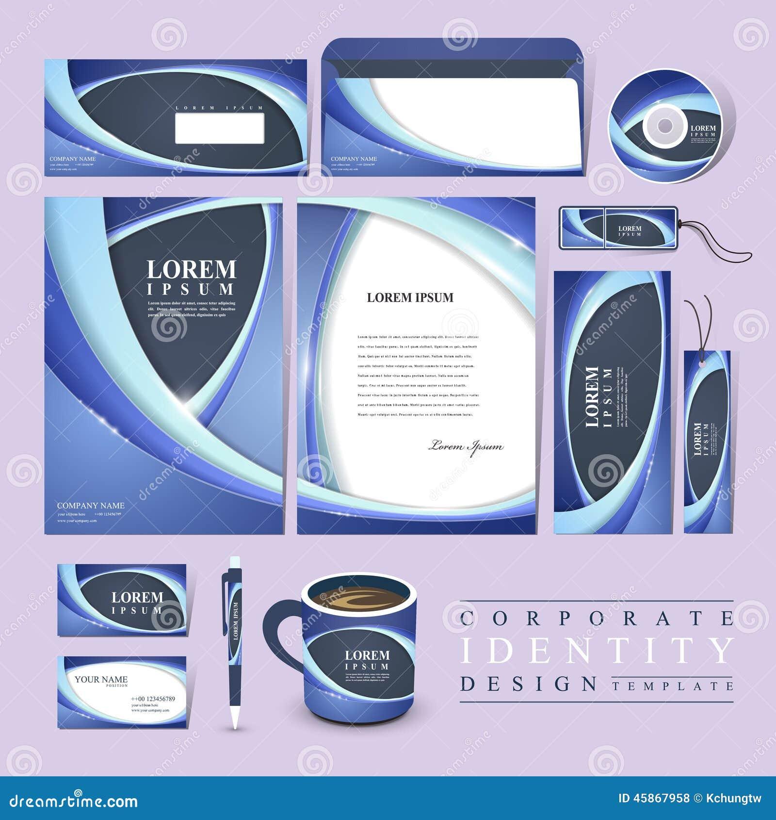 Abstract Futuristic Design For Corporate Identity