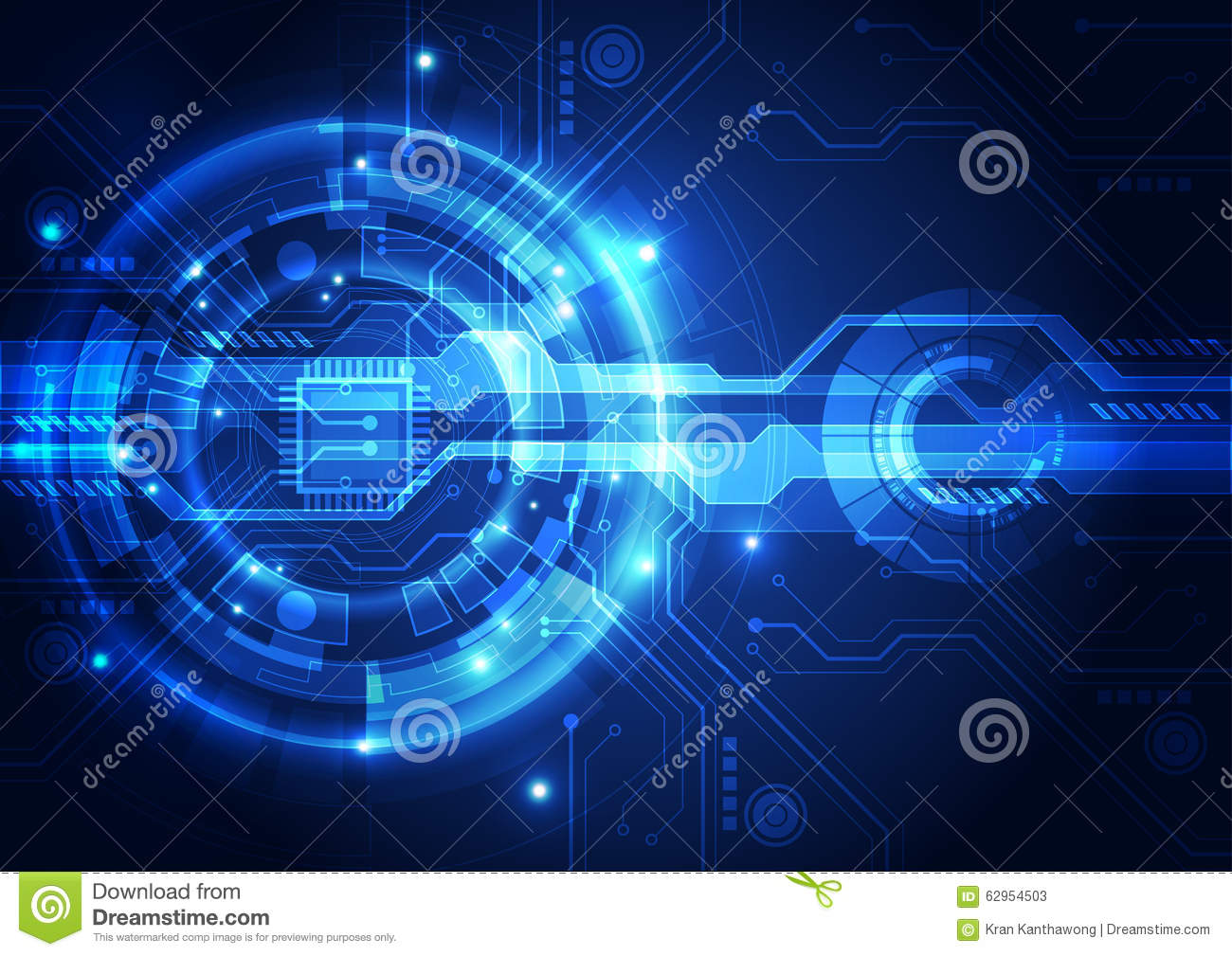 Technology Abstract Background Stock Illustration: Abstract Futuristic Digital Technology Background