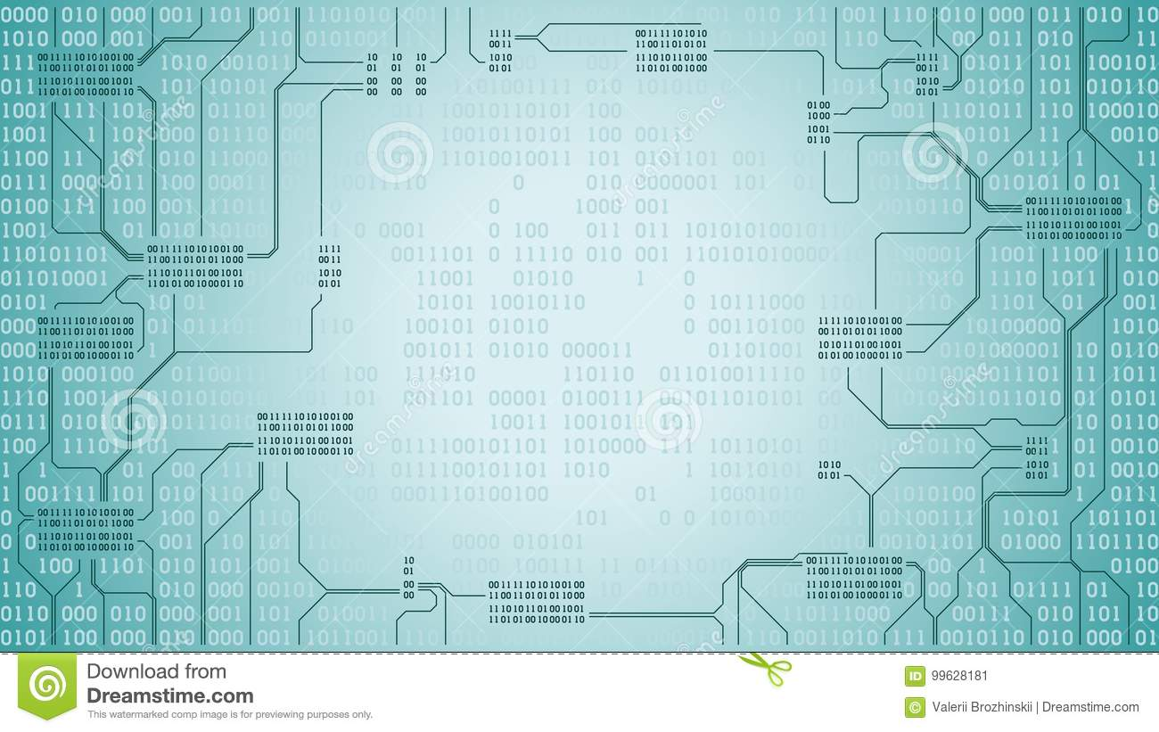 Abstract Futuristic Electronic Circuit Board With Binary Code Abstact Background And Stock Images Computer Digital Technology Frame