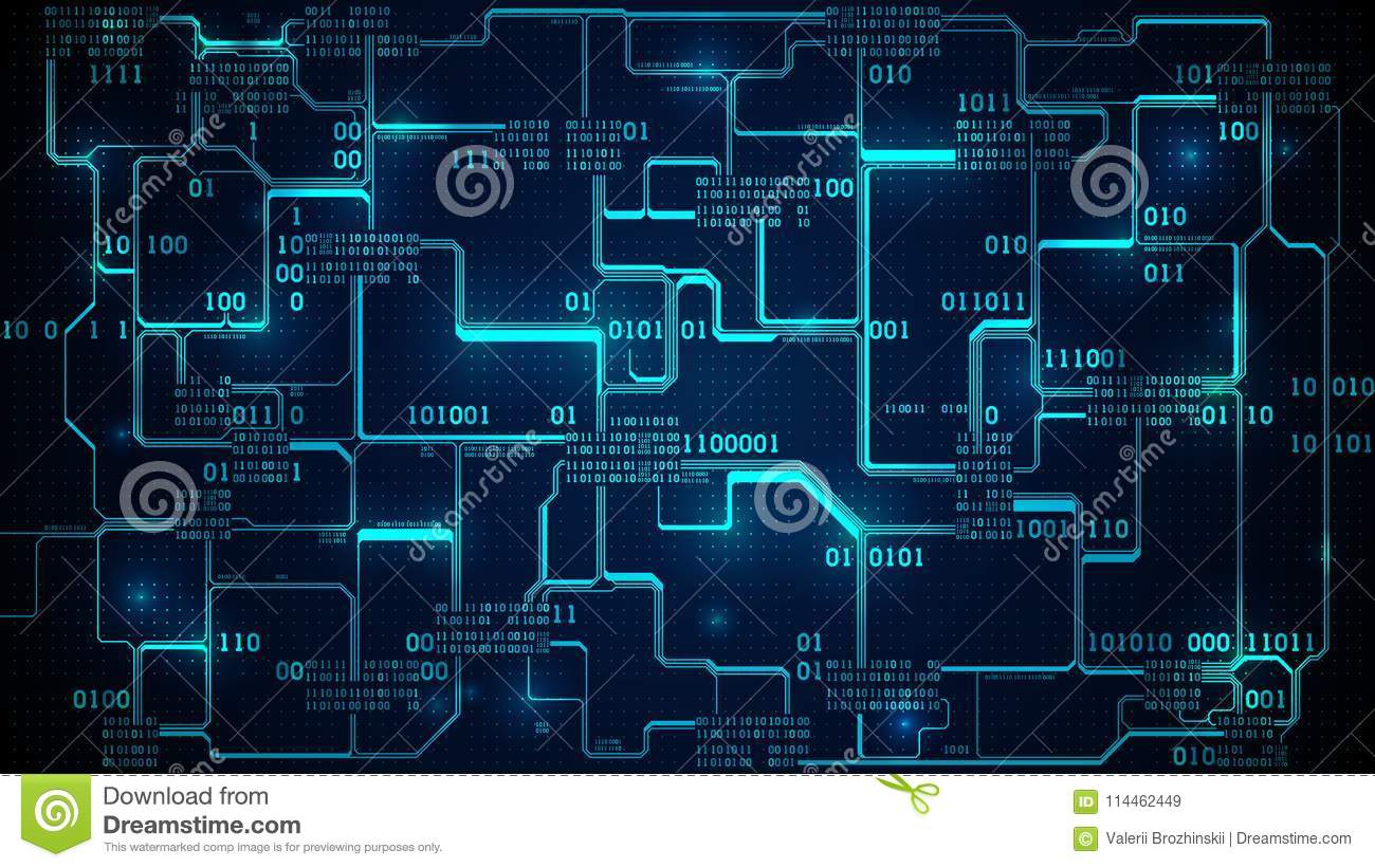 Background Code Circuit Wiring Diagram And Ebooks Lock Schematic Abstract Electronic Board Binary Neural Network Rh Dreamstime Com Identification Barcode Scanner