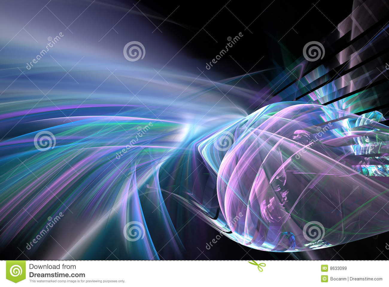 Abstract Futuristic Fractal Background Royalty Free Stock ...
