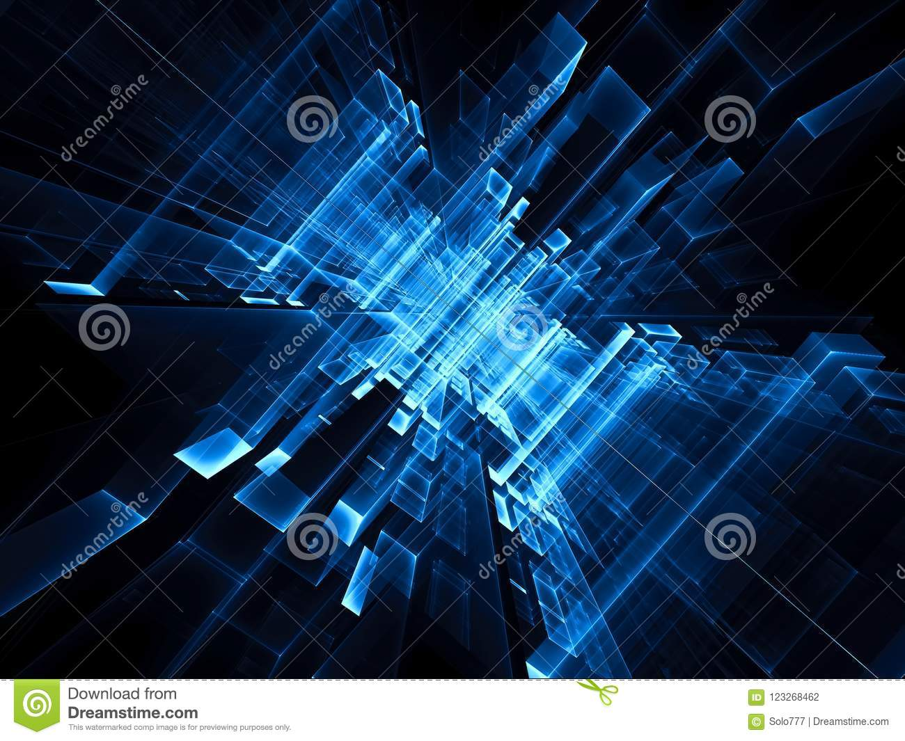 Abstract Futuristic Portal Digitally Generated Image Stock
