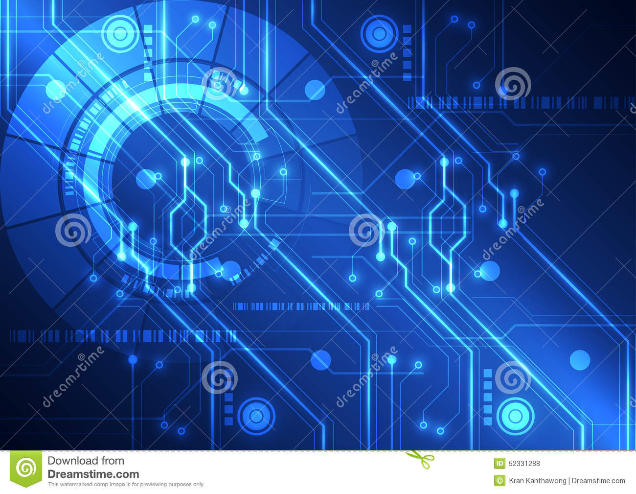 Abstract Futuristic Technology Circuit Board Background ...