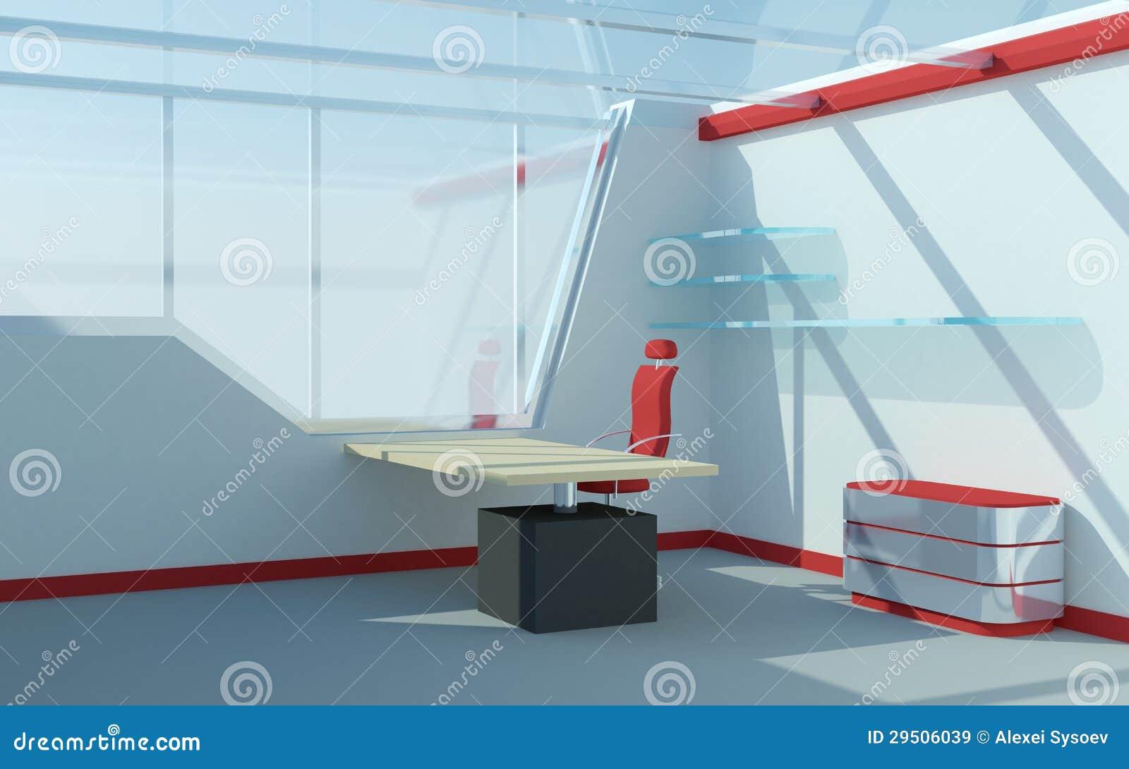 Abstract futuristisch bureau