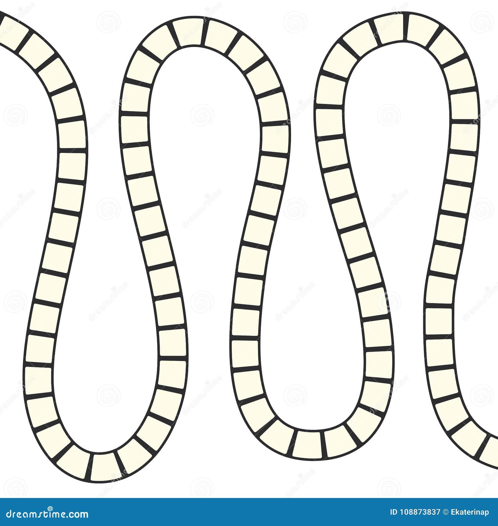 Abstract futuristisch labyrint, het malplaatje van het zigzagpatroon voor kinderen` s spelen, witte vierkanten Zwarte die contour