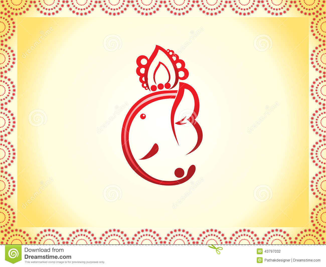 Abstract Ganesha Chaturthi Background Stock Vector - Image ...
