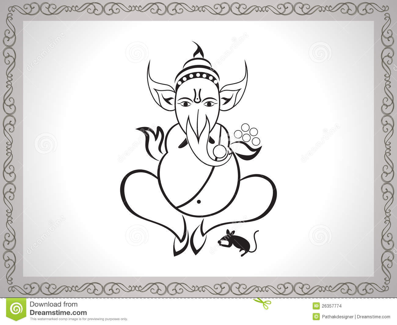 Abstract Ganesha Sketch Stock Images - Image 26357774