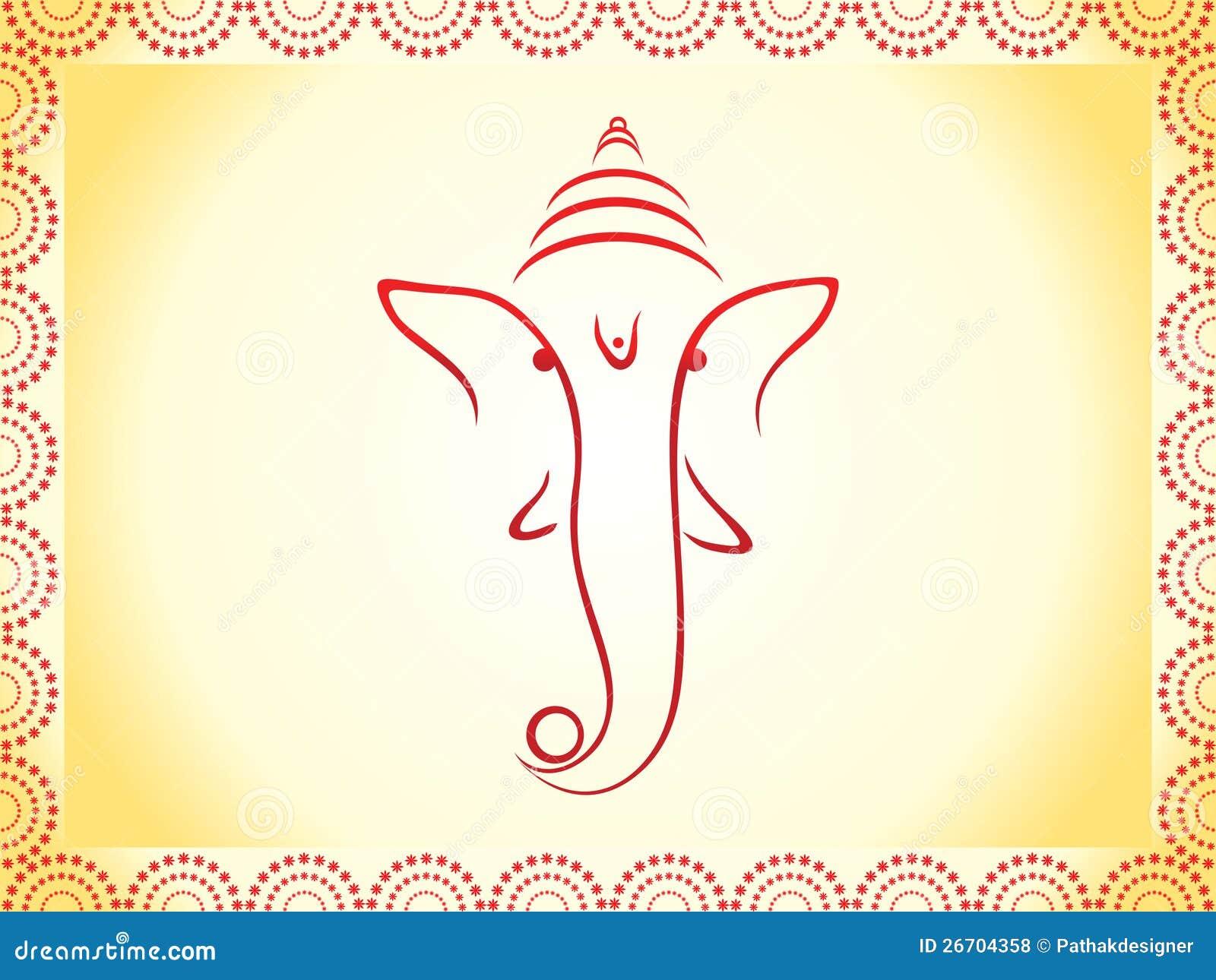 Abstract Ganesha Wallpaper Royalty Free Stock Photos