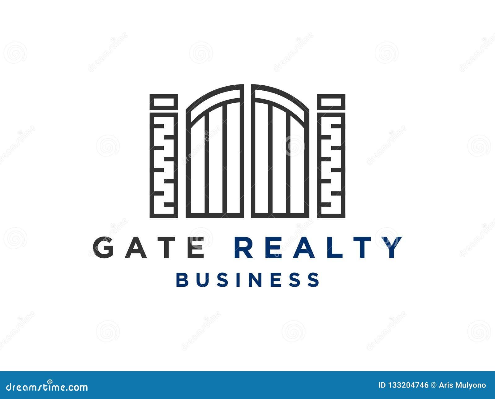 Abstract Gate Logo Design Inspiration Stock Vector ...
