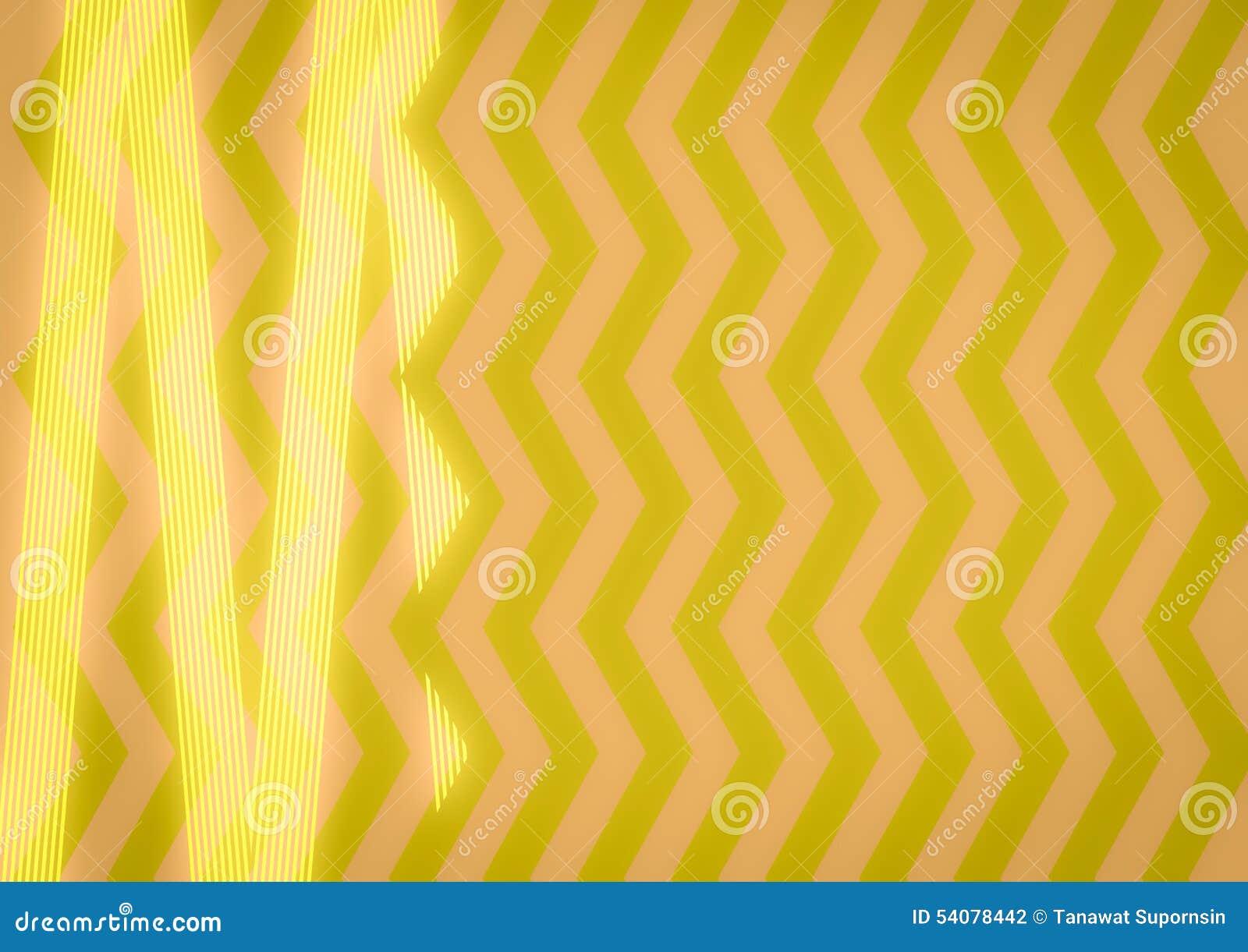 Abstract Geel Zigzagpatroon