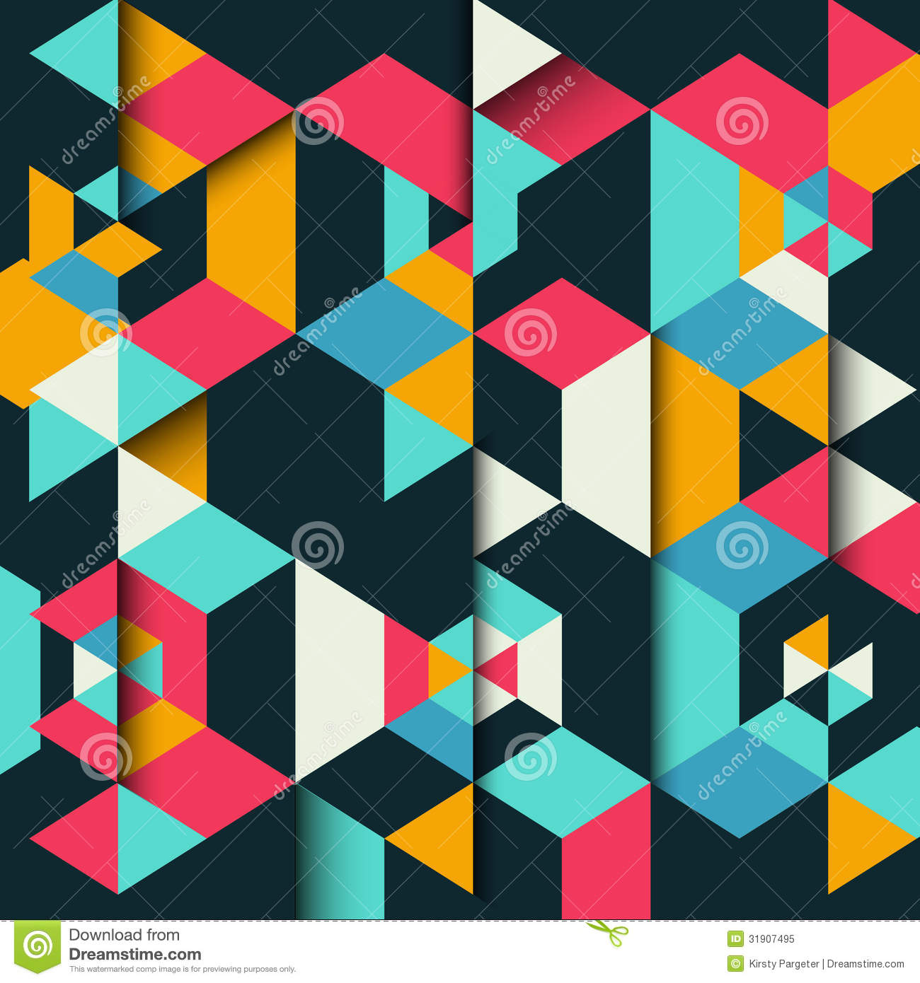 ... Geometric Background Royalty Free Stock Photo - Image: 31907495