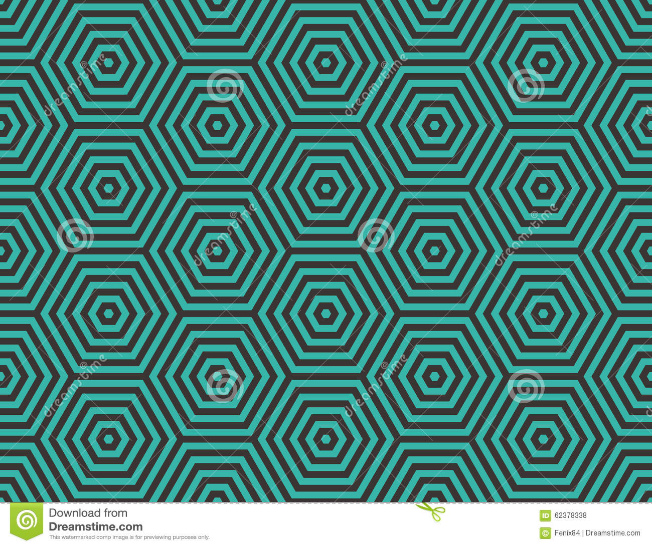Abstract Geometric Background Embedded Hexagons