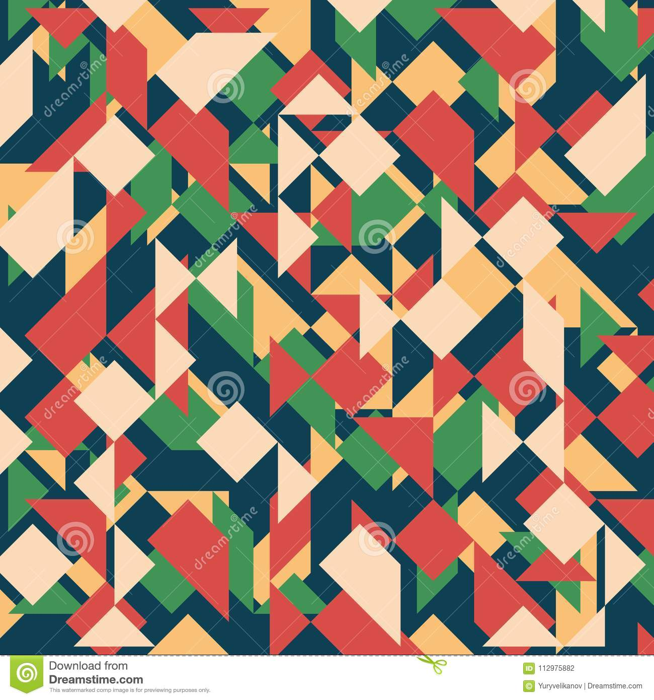 Abstract geometric background. Modern overlapping triangles and squares.
