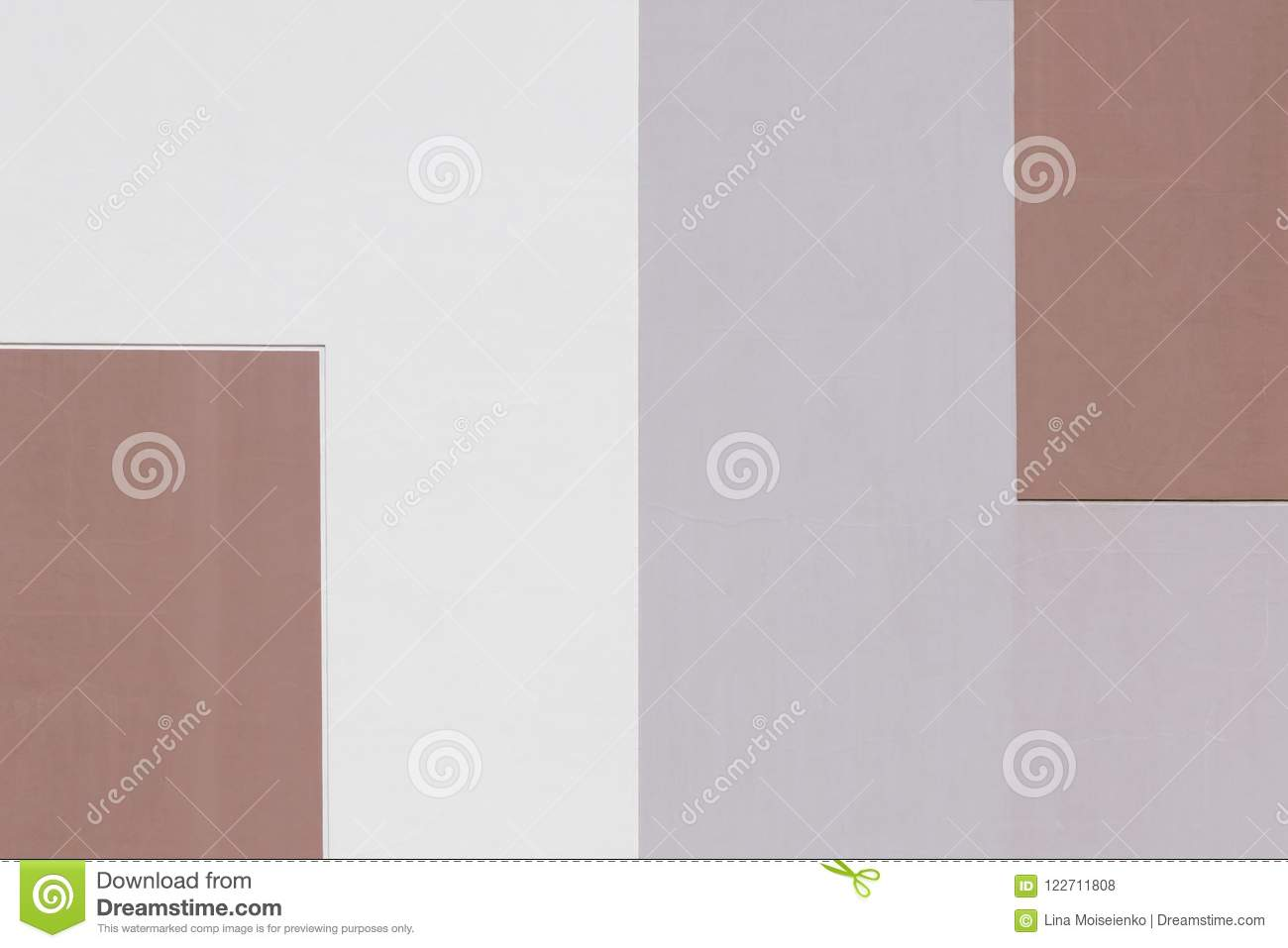 Abstract geometric background of pastel tones, divided into two parts